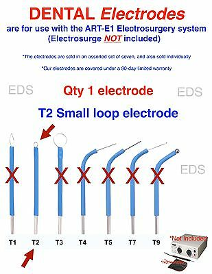 Qty Of 1 T2  Dental Electrode - Use With The Art-e1 Electrosurgery System