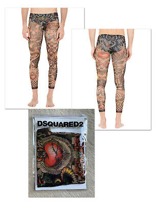 DSQUARED2 Signature TATTOO Men's LEGGINGS XL