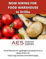 Now Hiring. Food Warehouse in Orillia