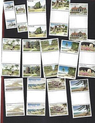 Nevis sc#121-34 (1981) Complete MNH Gutters