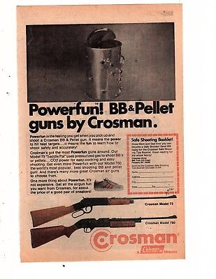 1980's comic book PRINT AD, CROSMAN powerful bb pellet gun  crossman airgun