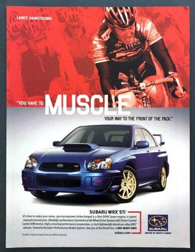 2004 Lance Armstrong Subaru WRX STi Sedan photo Muscle Your Way vintage print ad