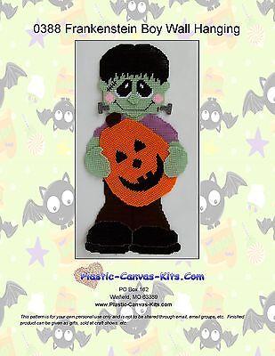 Halloween Wall Hanging Patterns (Frankenstein Boy Wall Hanging- Halloween-Plastic Canvas Pattern or)