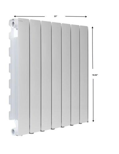 Fondital Hot Water Radiator - European Design, White, Blitz 4-600 6 element