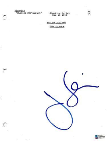 JERRY SEINFELD SIGNED RESTAURANT EPISODE TV SHOW SCRIPT COMEDIAN BECKETT COA BAS