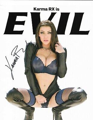 Karma RX Adult Star Signed Photo