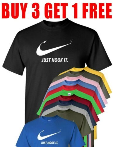 Just Hook It ADULT funny T shirt,Meme Swoosh Sports  compare to Nike T Shirt