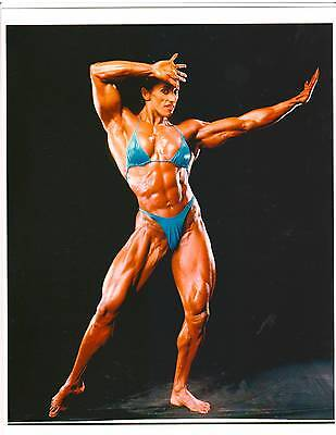 MARIE MAHABIR Female Bodybuilding Muscle Photo Color