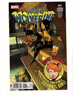 All-New Wolverine #7 (2016, Marvel) FN/VF Squirrel Girl Laura Gabby Kinney