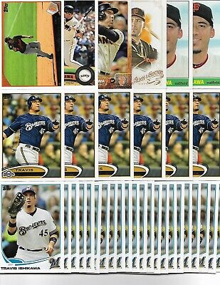 TRAVIS ISHIKAWA (39) Card Lot 7 Different GIANTS BREWERS