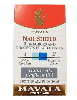 Mavala Nail Shield (Mavala Nail Shield Reinforce and Protect Fragile Nails 2 Bottles of 10ml  )