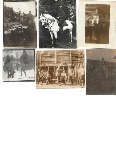 6x diff WW1 GERMAN Real Photos SOLDIERS IN UNIFORM GROUP POSE lot HISTORY #6