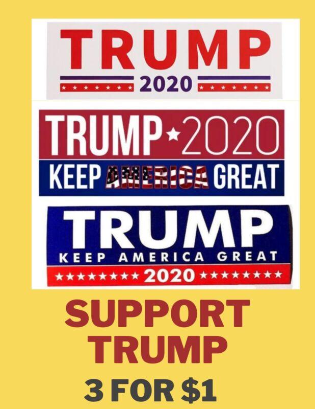 President Donald Trump 2020 3 Bumper Stickers 7.6x22.9cm