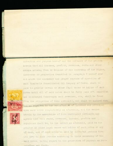 TEXAS - DEED TO EQUITABLE CONSOLIDATE OIL CO. OF TEXAS - 1922 WITH STAMPS