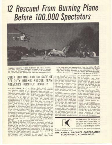 1961 The Kaman Aircraft Corp. Advertisement Bloomfield, Connecticut