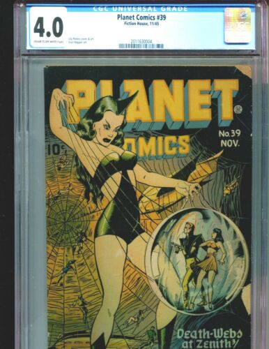 Planet Comics 39 CGC 4.0 Classic Lily Renee Spiderwoman cover Fiction House 1945