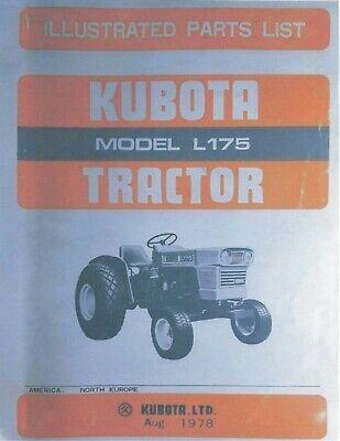 Kubota L175 Tractor Illustrated Parts Manual Operator Maintenance Manual