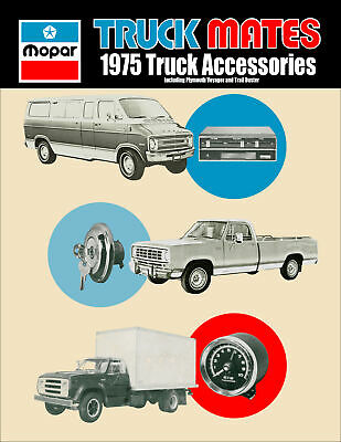 1975 Dodge Dodge Truck and Van Accessory Parts Catalog Illustrated Accessories
