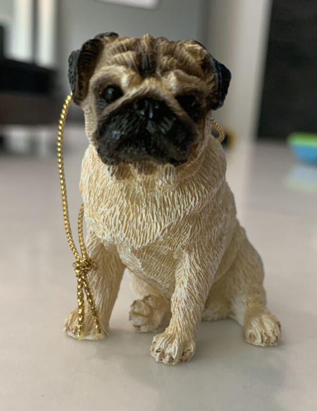 "Pug Dog Cute Christmas Ornament 2"""