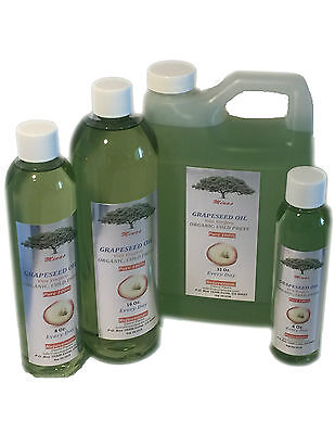 GRAPESEED OIL Original CARRIER COLD PRESSED MASSAGE  4Oz - 32 OZ Pure grape SEED (Pure Grape Seed Oil)