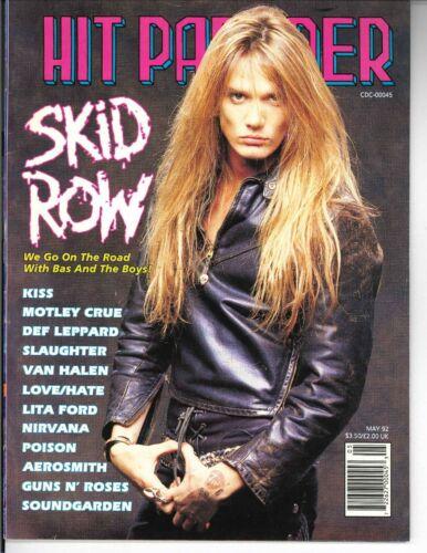 Hit Parader Magazine May 1992 Skid Row Kiss Motley Crue Def Leppard Soundgarden