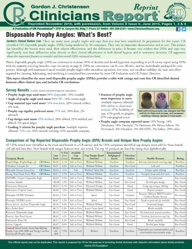 500 CR CHOICE Prophy Magic Prophy Angles @ A Great Price