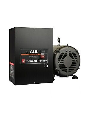American Rotary Phase Converter Aul10 10hp 1 To 3 Phase Cnc Extreme Duty Usa