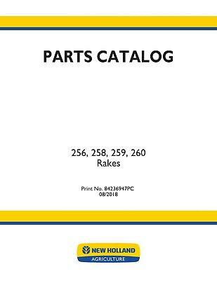 New Holland 256 258 259 260 Rakes Hay Tools Parts Catalog