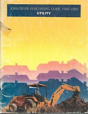 John Deere - Utility Construction Equipment 21 Brochures In 1 Guide C88 E6626