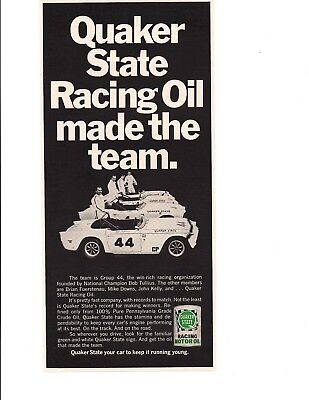 1969 Triumph Tr 6   Tr6   Group 44 Racing   Original Quaker State Print Ad