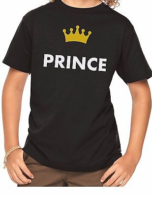 Prince T Shirt Crown Gift for Son Brother Boys Short Long Sleeve T-Shirt - Crowns For Boys
