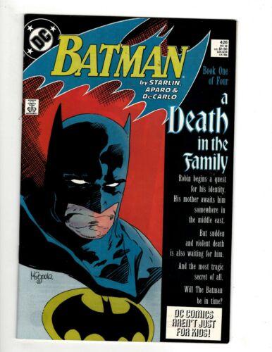 Lot Of 4 Batman DC Comic Books # 426 427 428 429 VF-NM Death In The Family SR1