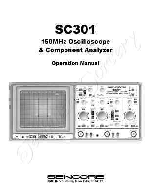 Sencore Sc301 150mhz Scope Component Analyzer Manual Digital Flipbook On Cd