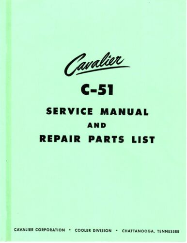 Cavalier C-51 Service Manual and Parts List (20 Pg.