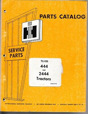 International 444 And 2444tractors Parts Manual