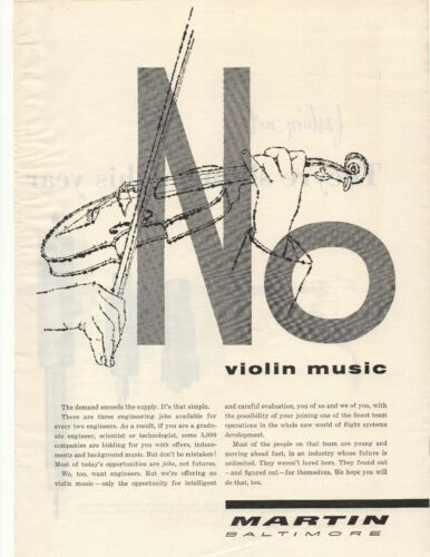 1955 Martin Baltimore Advertisement