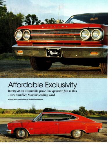 1965 RAMBLER MARLIN 327/270 HP ~ GREAT 4-PAGE ARTICLE / AD