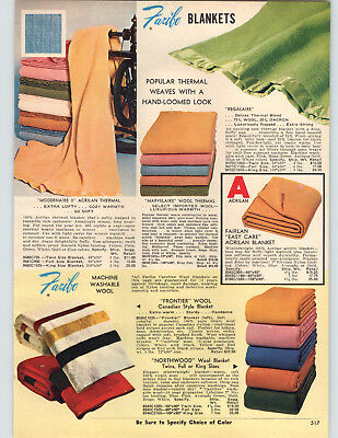 1969 PAPER AD Faribo Wool Blanket Frontier Canadian Style Stripe Northwood ()