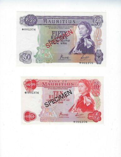 MAURITIUS 5-10-25-50 Rupees 1978 CS1 UNC Franklin set
