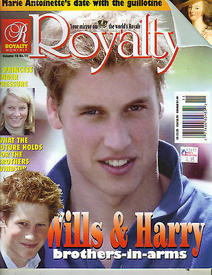 Prince William Harry Uk Royalty Magazine Vol 18 No 11 Marie Antoinette