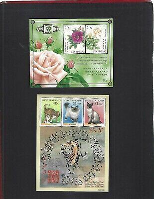 New Zealand sc#1470c, 1489a (1997-8) Souvenir Sheets MNH