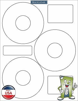450 CD DVD Disk Laser / Ink Jet Labels Compatible Neato CLP-192301. 150 Sheets 3 Disc Label Templates