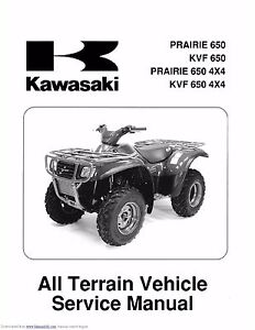 kawasaki kvf650 manual ebay rh ebay com kawasaki atv service manuals kawasaki atv service manual free download