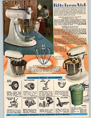 1969 PAPER AD Kitchenaid Electric Food Mixer Deluxe Standard Family Size