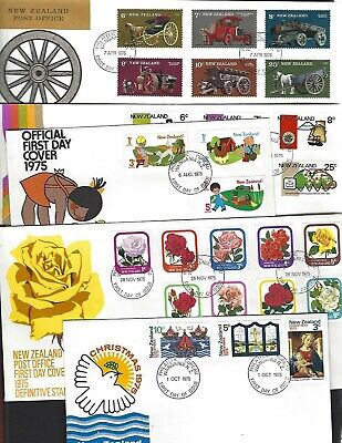 New Zealand sc#581-603, B92-4 (1975-6) Complete FDC's