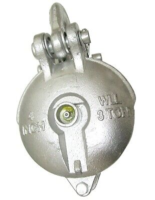Snatch Block Yarding Block For 38 Wire Rope Cable Pulley 3 Tons 4 W Grease
