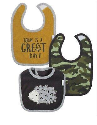 Gerber Boy Bibs Infant Newborn Terry Cloth 3-Pack Wild Gerber 3 Pack Terry