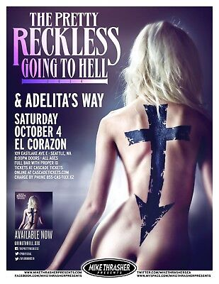 THE PRETTY RECKLESS GOING TO HELL 2014 CONCERT POSTER FOR PORTLAND OR SEATTLE - $12.99