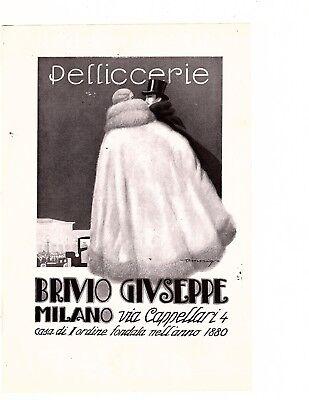 1920s Big Vintage pellivverie  Store Flapper Woman Fashion Fur Coat Art Print Ad
