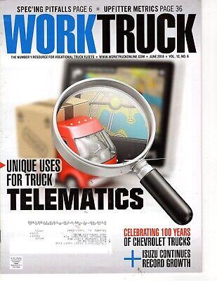 Work Truck Magazine June 2018 Truck Telematics for sale  Clermont